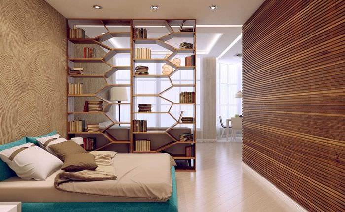 вариант светлого декора гостиной спальни