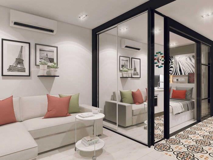идея необычного интерьера квартиры
