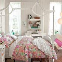 идея яркого декора спальни для девочки в современном стиле картинка