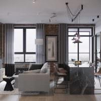 идея светлого интерьера двухкомнатной квартиры фото