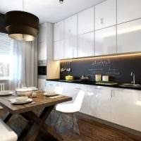 вариант яркого стиля кухни 8 кв.м фото