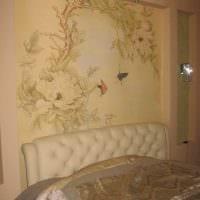вариант красивого стиля дома с росписью стен фото
