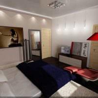 вариант необычного дизайна спальной комнаты для молодого человека картинка