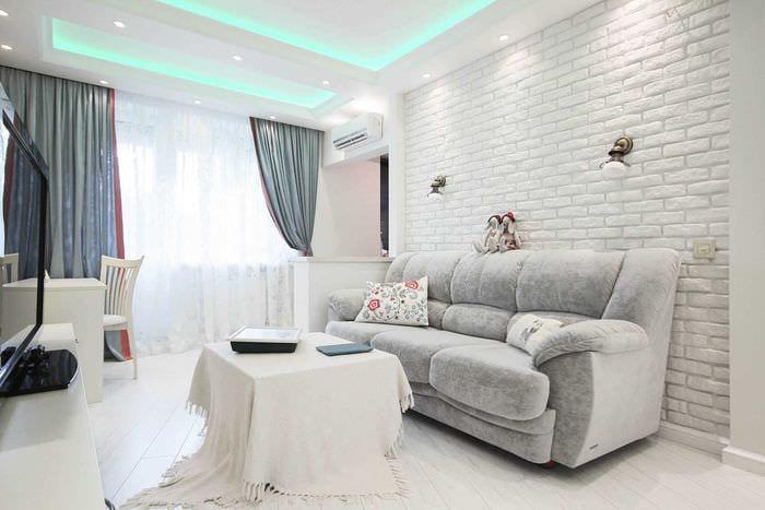 идея яркого интерьера двухкомнатной квартиры в хрущевке