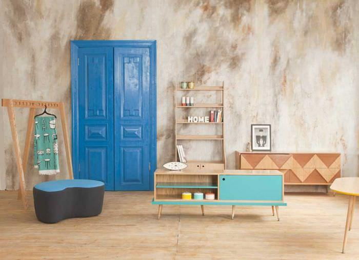 вариант необычного декора комнаты в советском стиле