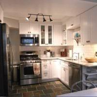 идея красивого дизайна кухни 9 кв.м картинка
