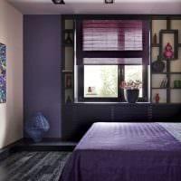 идея необычного интерьера гостиной с римскими шторами картинка