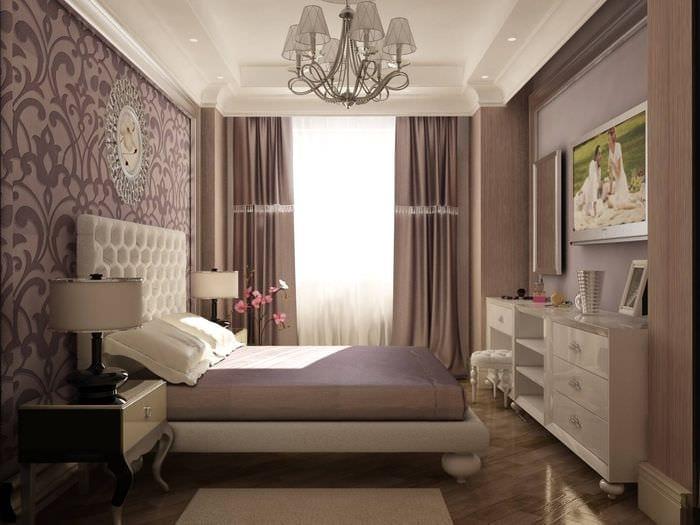 идея светлого дизайна малогабаритной комнаты