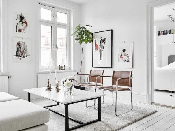 вариант яркого стиля малогабаритной комнаты картинка