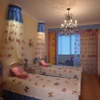 идея красивого декора спальной комнаты для девочки в современном стиле фото