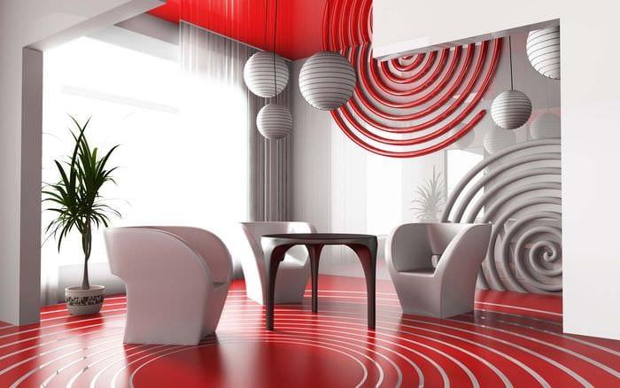 вариант светлого сочетания цвета в интерьере современной комнаты