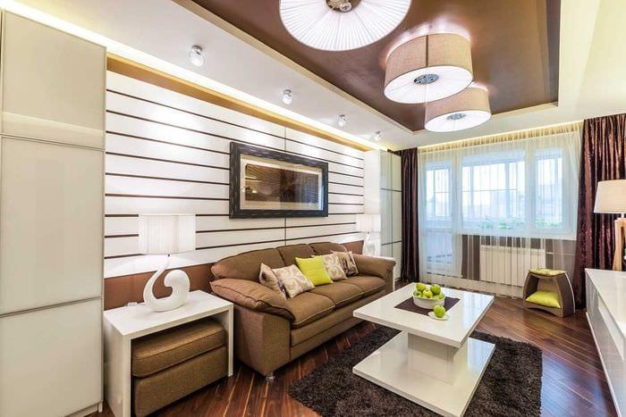 вариант необычного сочетания цвета в стиле современной комнаты