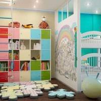 вариант красивого современного декора детской комнаты картинка