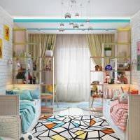 пример светлого современного интерьера детской комнаты картинка