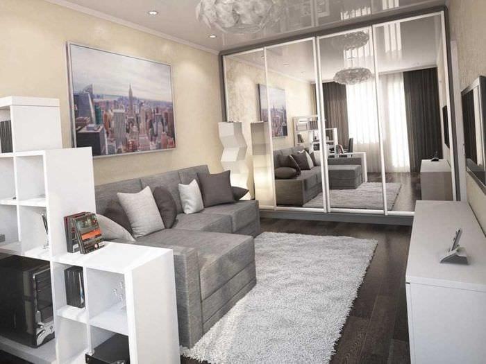 идея яркого стиля детской комнаты 18 кв.м.