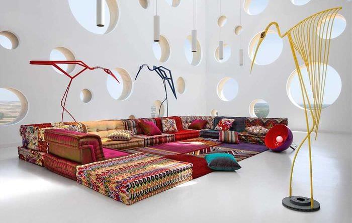 идея светлого стиля спальни в стиле пэчворк