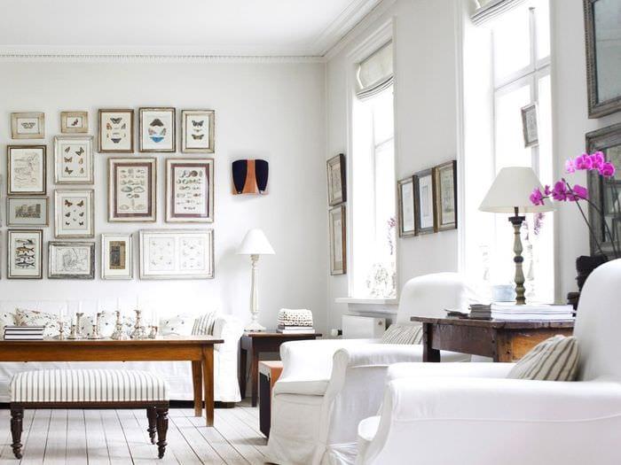 идея яркого интерьера комнаты в скандинавском стиле