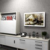 вариант яркого дизайна комнаты в советском стиле картинка