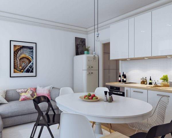 идея яркого дизайна маленькой комнаты фото