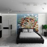 вариант светлого дизайна спальни для молодого человека картинка