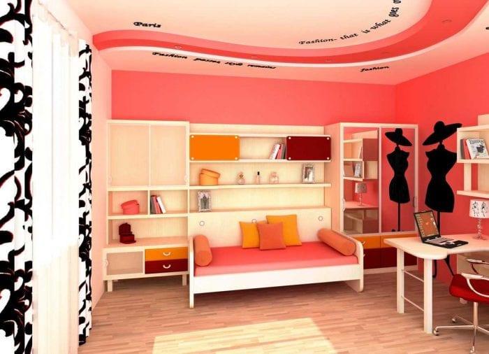 идея яркого стиля спальной комнаты для девочки в современном стиле