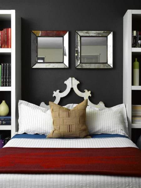 идея яркого дизайна спальной комнаты для молодого человека фото