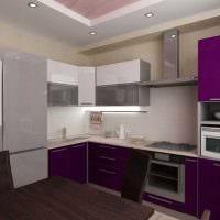 вариант применения яркого стиля кухни картинка