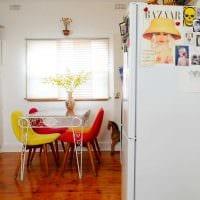 идея использования необычного дизайна комнаты в стиле ретро картинка