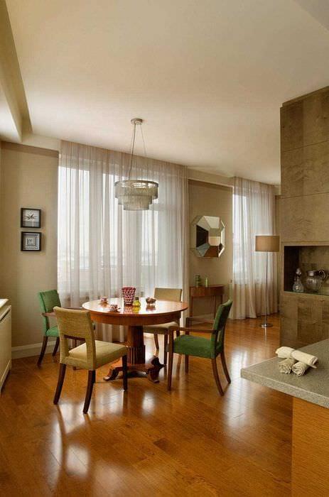 вариант применения яркого интерьера комнаты в стиле ретро