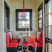 пример применения светлого интерьера комнаты в стиле ретро фото