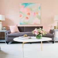 пример использования розового цвета в ярком интерьере комнате фото