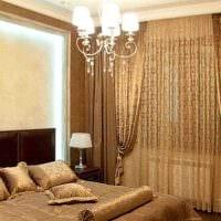 вариант использования современных штор в ярком дизайне комнате фото