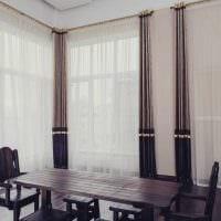 идея использования современных штор в необычном интерьере комнате картинка