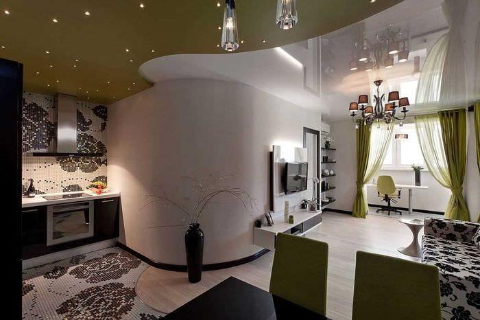 идея яркого стиля двухкомнатной квартиры