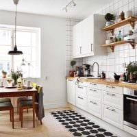 идея светлого дизайна кухни 14 кв.м картинка