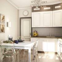 вариант красивого декора кухни 8 кв.м картинка