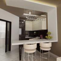 идея яркого дизайна кухни 9 кв.м фото