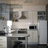 идея яркого интерьера кухни 14 кв.м картинка