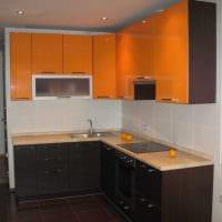 вариант необычного стиля кухни 8 кв.м картинка