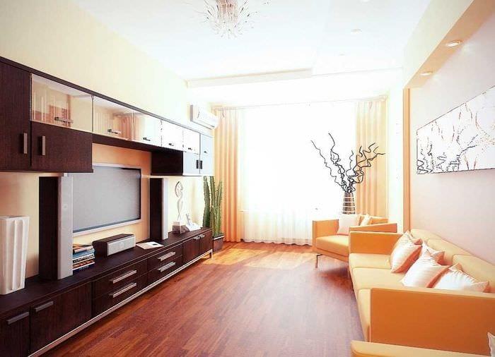 идея светлого дизайна двухкомнатной квартиры