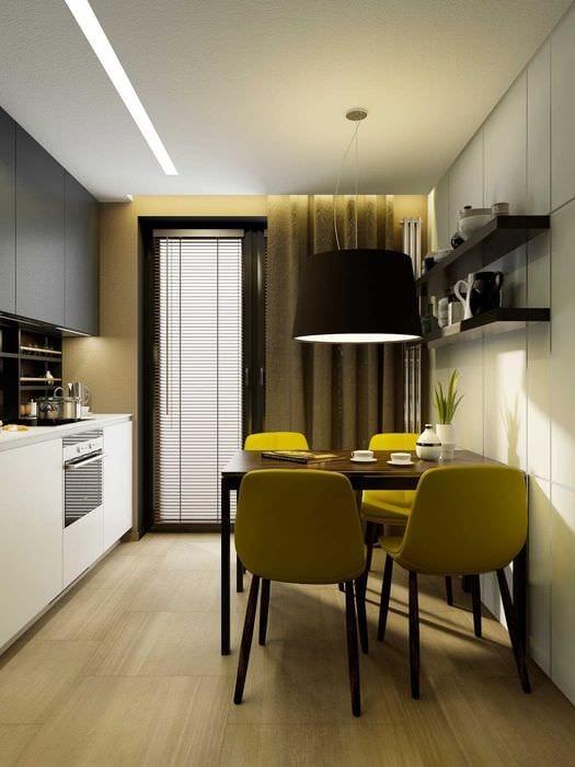 идея необычного декора кухни 9 кв.м