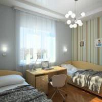 вариант яркого интерьера детской комнаты для двоих детей картинка