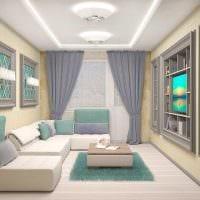 вариант необычного декора двухкомнатной квартиры фото