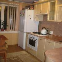 пример красивого интерьера кухни 8 кв.м фото