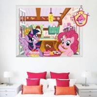 идея яркого современного дизайна детской комнаты фото