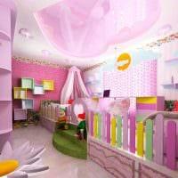 идея необычного интерьера детской комнаты для двоих девочек картинка