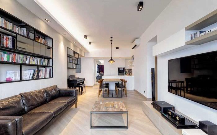 пример необычного стиля двухкомнатной квартиры
