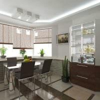 пример яркого интерьера кухни 14 кв.м фото