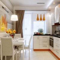 вариант яркого дизайна кухни 8 кв.м картинка