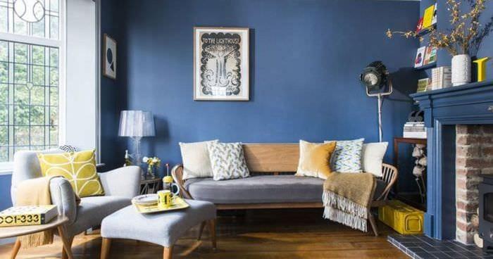 идея использования необычного дизайна комнаты в стиле ретро